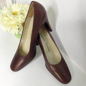 Charles Jourdan Paris Brown pumps Heels Sz 7
